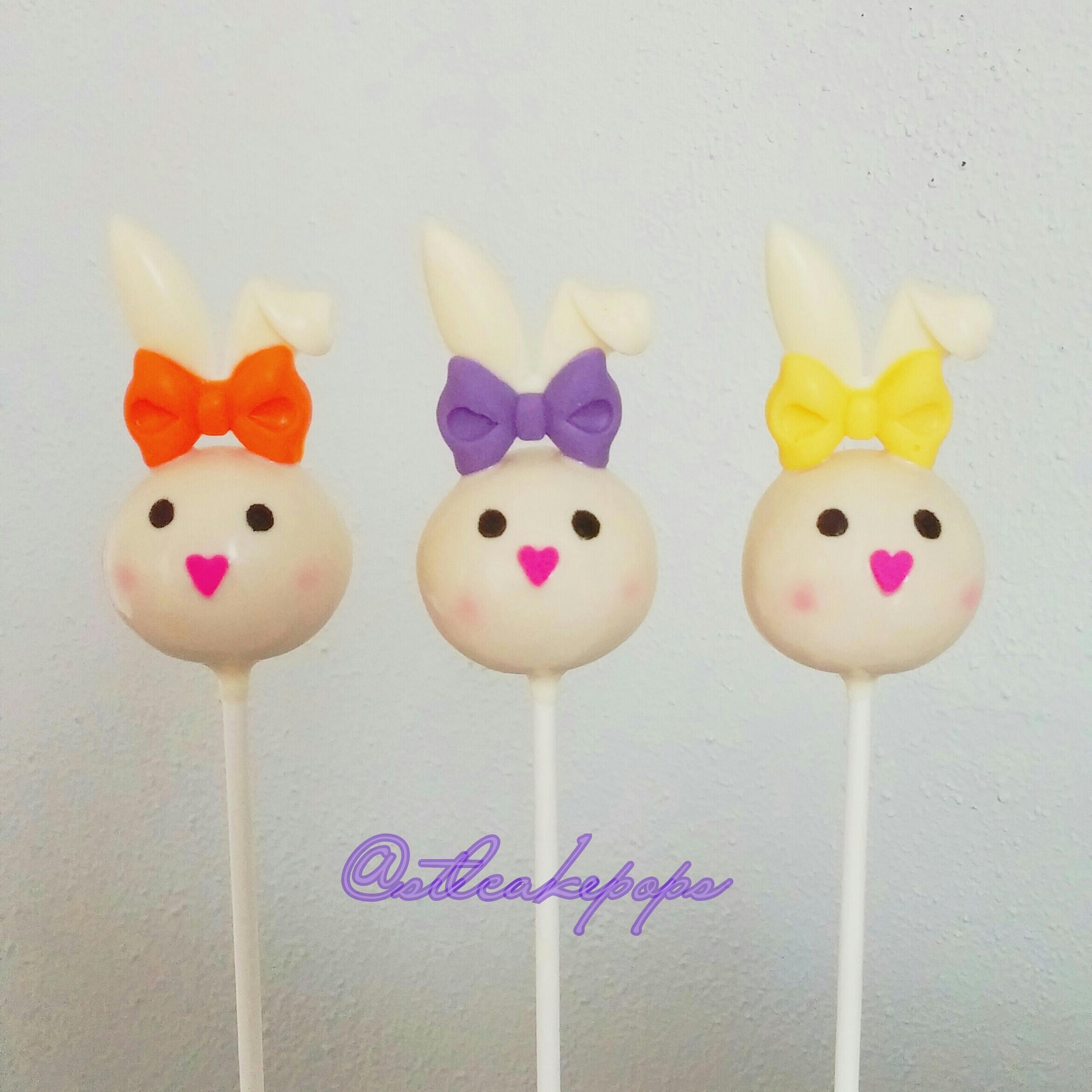 Bunny Heads cake pops