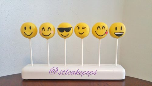 assorted emoji cake pops