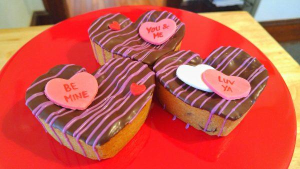 Mini Valentine's Cookie Cakes