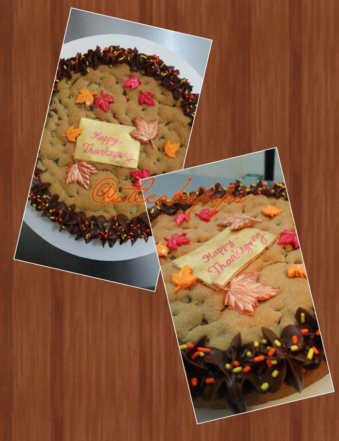 Thanksgiving Cookie Cake