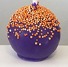 purple cake pop with orange non perils