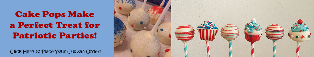 red white and blue cake pops for patriotic parties