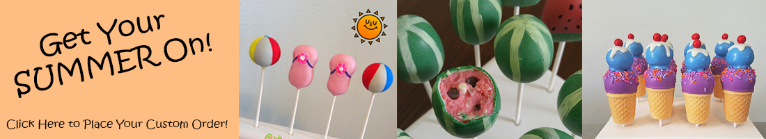 ice cream watermellon and sandal cake pops for summer